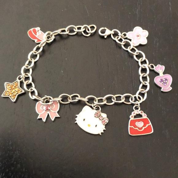 cb71f579c Hello Kitty Jewelry | Sterling Silver Charm Bracelet | Poshmark
